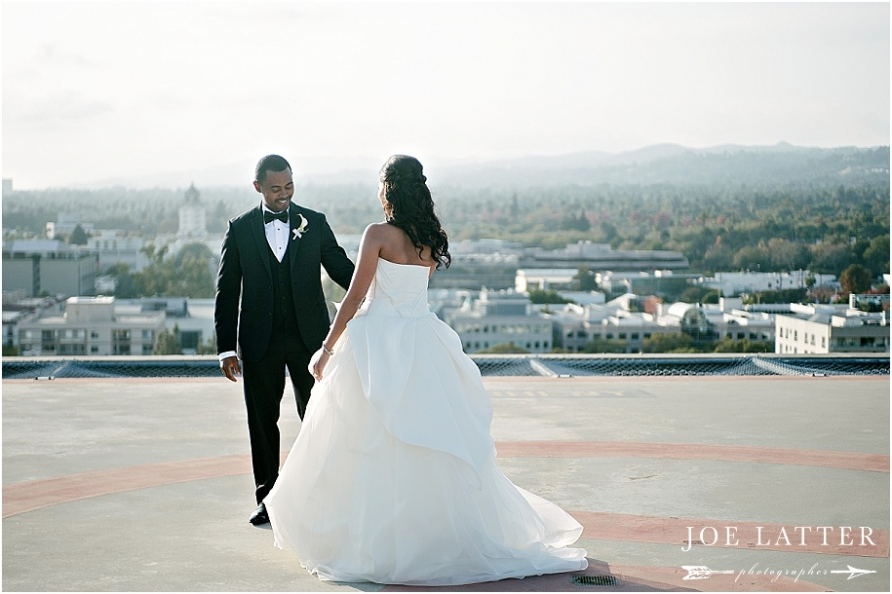 Four Seasons Beverly Hills Los Angeles Rooftop Wedding Photographer